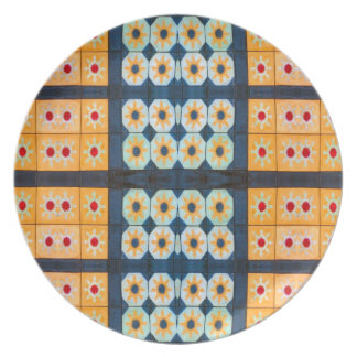 modelo amarillo bonito de la teja platos de comidas