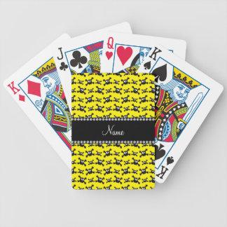 Modelo amarillo brillante conocido personalizado d barajas de cartas