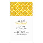 Modelo amarillo brillante de Quatrefoil del marroq Plantilla De Tarjeta De Negocio