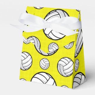 Modelo amarillo brillante del voleibol caja para regalos de fiestas