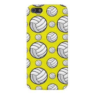 Modelo amarillo brillante del voleibol iPhone 5 carcasas