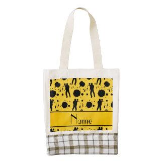 Modelo amarillo conocido personalizado de bolsa tote zazzle HEART