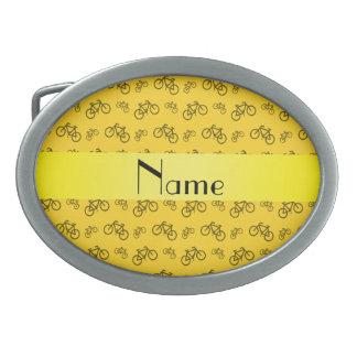 Modelo amarillo conocido personalizado de la bicic hebillas cinturón ovales