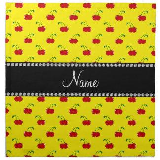 Modelo amarillo conocido personalizado de la cerez servilleta de papel
