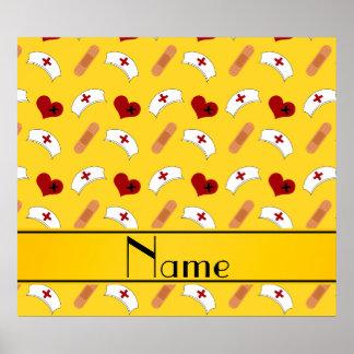 Modelo amarillo conocido personalizado de la póster