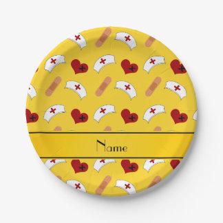 Modelo amarillo conocido personalizado de la plato de papel 17,78 cm