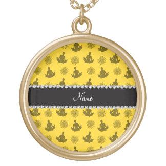 Modelo amarillo conocido personalizado de la yoga collar personalizado