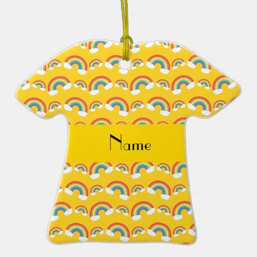 Modelo amarillo conocido personalizado de los arco ornamento para arbol de navidad
