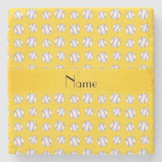 Modelo amarillo conocido personalizado de los posavasos de piedra