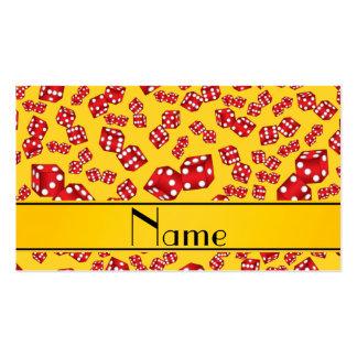 Modelo amarillo conocido personalizado de los tarjetas de visita