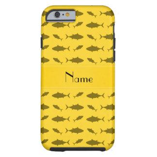 Modelo amarillo conocido personalizado del atún de funda de iPhone 6 tough