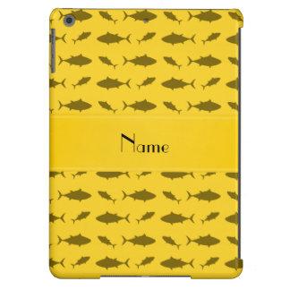 Modelo amarillo conocido personalizado del atún de funda para iPad air
