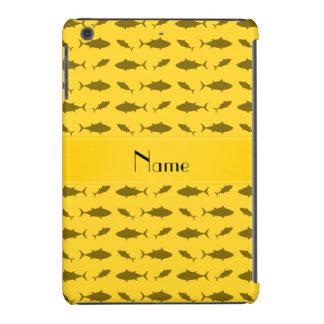 Modelo amarillo conocido personalizado del atún de funda para iPad mini retina