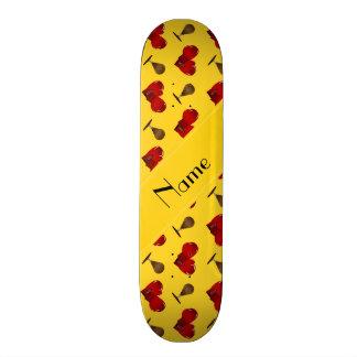 Modelo amarillo conocido personalizado del boxeo skate boards