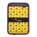 Modelo amarillo conocido personalizado del helado funda para iPad mini