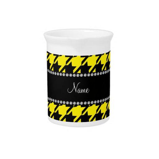 Modelo amarillo conocido personalizado del houndst jarras de beber