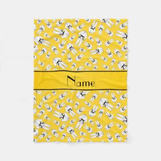 Modelo amarillo conocido personalizado del karate manta de forro polar