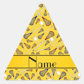 Modelo amarillo conocido personalizado del pegatina triangular