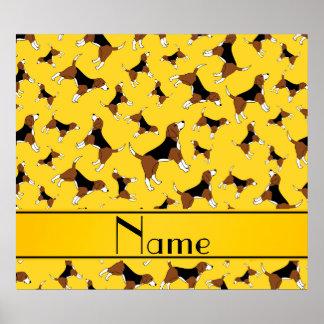 Modelo amarillo conocido personalizado del perro póster