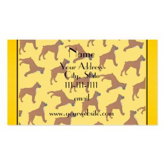Modelo amarillo conocido personalizado del perro tarjetas de visita