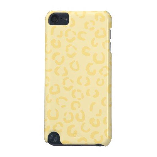 Modelo amarillo cremoso del estampado leopardo