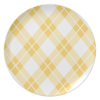 Modelo amarillo de Argyle Platos Para Fiestas