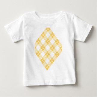 Modelo amarillo de Argyle Playera Para Bebé