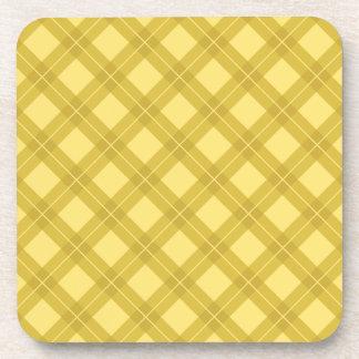 Modelo amarillo de Argyle Posavasos De Bebidas