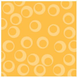 Modelo amarillo de círculos. Retro. Personalizado Fotoescultura Vertical