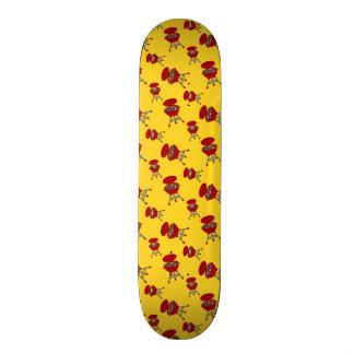 modelo amarillo de la barbacoa tablas de skate