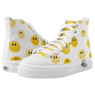 Modelo amarillo de la cara de la sonrisa zapatillas