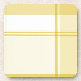 Modelo amarillo de la franela posavaso