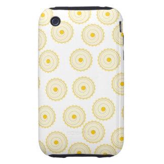 Modelo amarillo de la magdalena iPhone 3 tough carcasa
