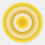 Modelo amarillo de la mandala del narciso etiquetas