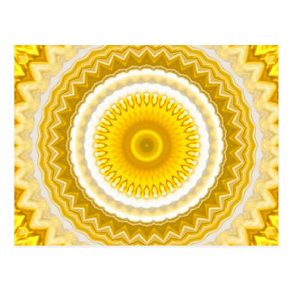 Modelo amarillo de la mandala del narciso tarjeta postal