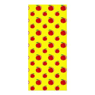 Modelo amarillo de la manzana tarjetas publicitarias