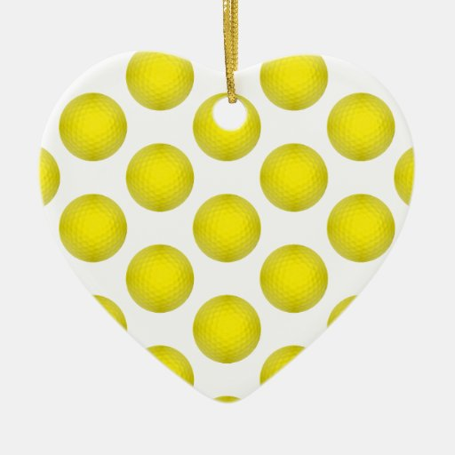 Modelo amarillo de la pelota de golf ornamento de navidad