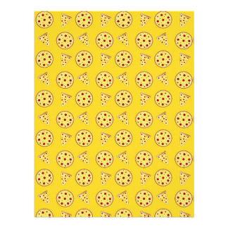Modelo amarillo de la pizza plantillas de membrete