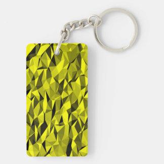 modelo amarillo de la textura llavero rectangular acrílico a doble cara