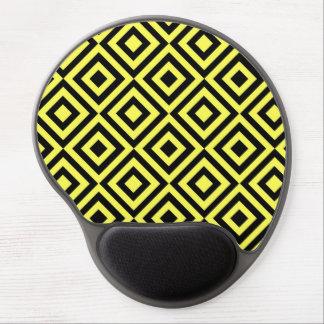Modelo amarillo de las casillas negras alfombrilla de ratón con gel