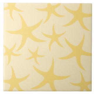 Modelo amarillo de las estrellas de mar teja cerámica