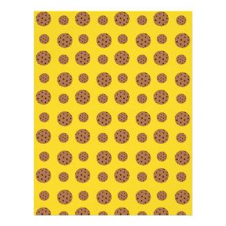 Modelo amarillo de las galletas de microprocesador plantillas de membrete