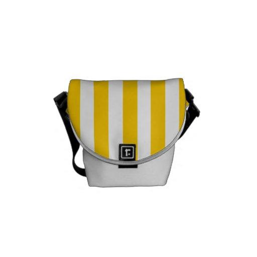 Modelo amarillo de las rayas de la diversión bolsa messenger