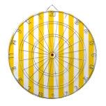 Modelo amarillo de las rayas de la diversión tablero dardos