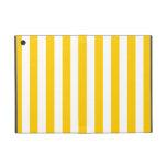 Modelo amarillo de las rayas de la diversión iPad mini carcasas