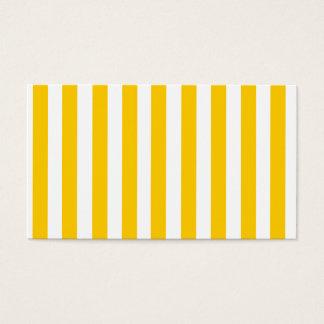 Modelo amarillo de las rayas de la diversión tarjeta de negocios