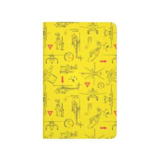 Modelo amarillo de los aviones cuaderno