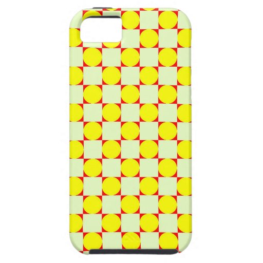 Modelo amarillo de los círculos iPhone 5 Case-Mate cobertura
