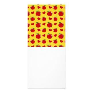 modelo amarillo de los corazones de la manzana plantilla de lona