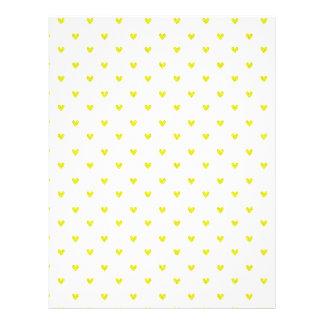 """Modelo amarillo de los corazones del brillo folleto 8.5"""" x 11"""""""